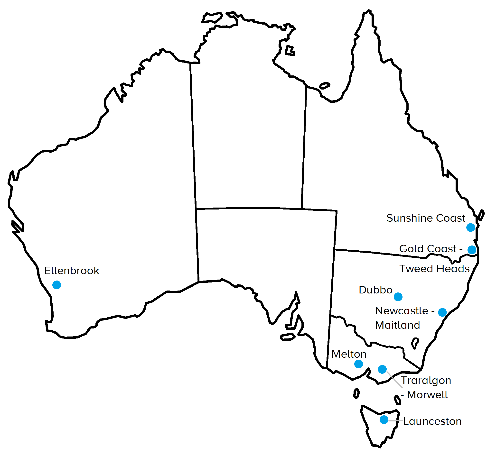 Map Of Australia Showing Capital Cities.Australia S Capital Cities Mccrindle